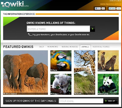 Qwiki search engine with Multimedia based