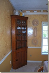corner with china cabinet