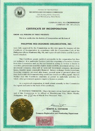 PWEDO SEC Registration