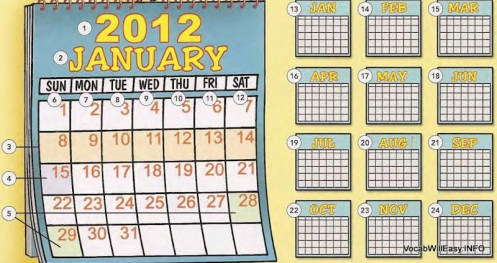 THE CALENDAR: Year, Months, Seasons, Time - Online Dictionary for Kids