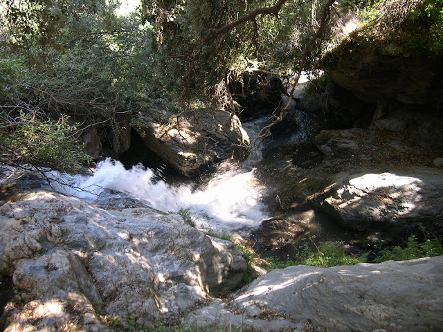 Rincones oscuros, con destrepes técnicos, muy resbaladizos, y agua por todas partes