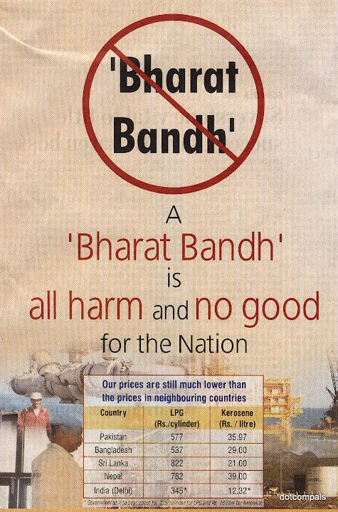 Say no to bandhs and hartals