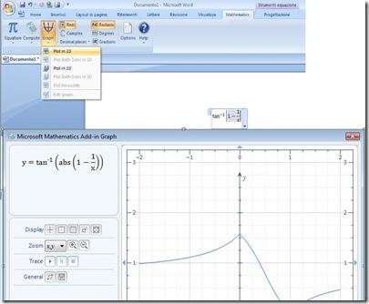Inserire simboli matematici, calcoli, espressioni e charts in Word con Microsoft Mathematics Add (4/5)