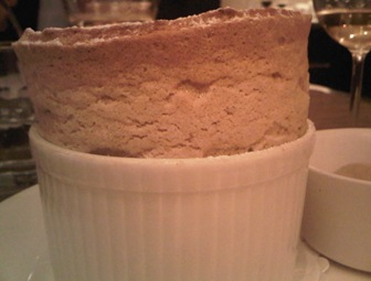 Prune and armagnac souffle