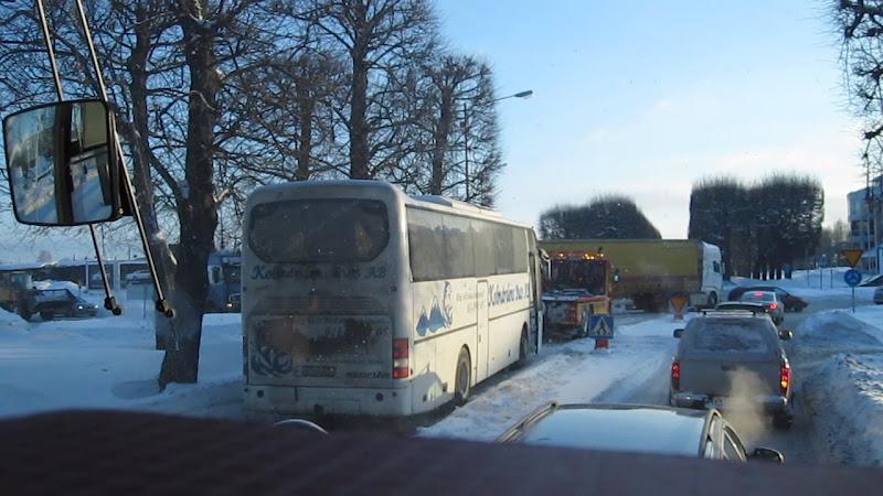 Buss som fick evakueras