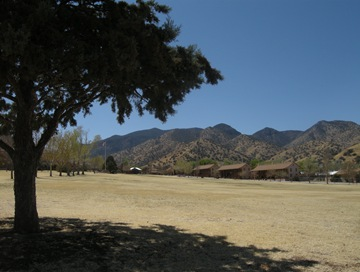 parade grounds at the base of the mountains, graduation ceremonies are here