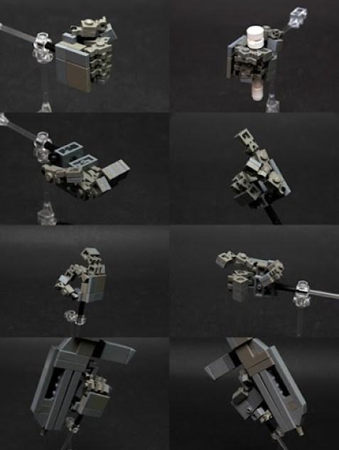 Gundam Lego Mano articulada