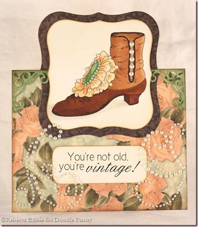 vintage shoe romantique