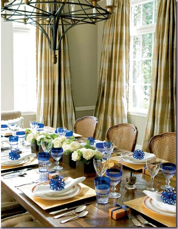 Mainly Blue Hanukkah Beautiful Table Settings Decogirl