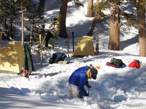 Our camp at Waugh Lake   Photo Sung Byun
