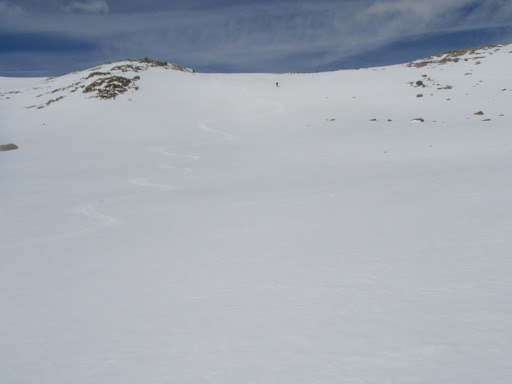 The ski down from Lost Lakes Pass to our camp at Waugh Lake was one of the highlights of the trip   Photo Sung Byun