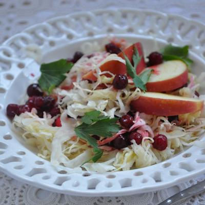 Cooketa-Salata od kupusa sa jabukom i brusnicama
