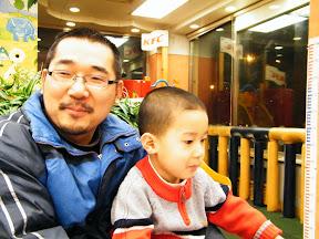 朱子卓和朱楚甲,快乐的父子。