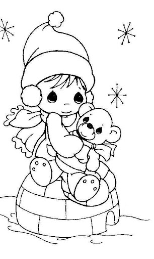 coloring pages january 2010