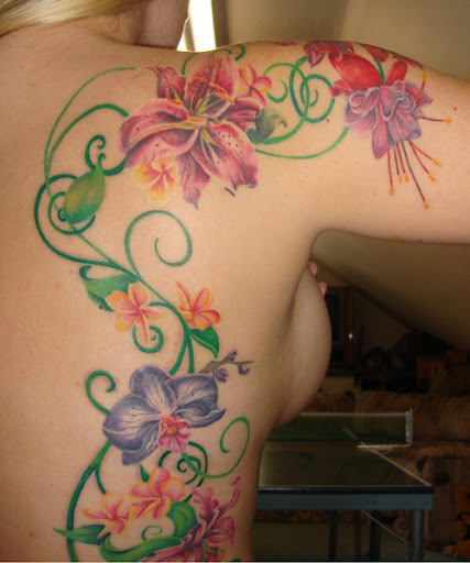 But look how pretty tattoos can look with no black in involved: