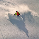 Ingo in fantastic powder. Still in Meribel, Mont Vallon...