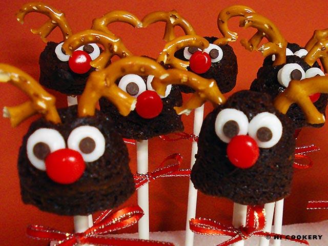Rudolph Brownie Pops