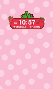 Strawberry Clock Widget screenshot 1