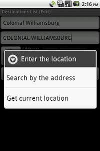 Destinations List screenshot 1