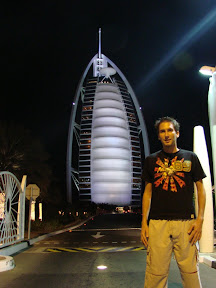 Me in front of Burj al Arab, the only 'Seven star' hotel in the entire world