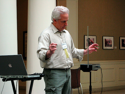 Kip Rosser plays the theremin.