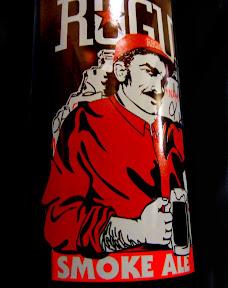 A bottle of Rogue Smoke Ale