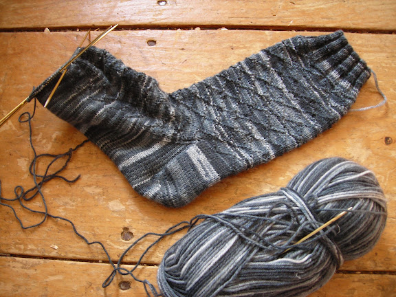 Gentlemans Socks with Lozenge Pattern by Nancy Bush