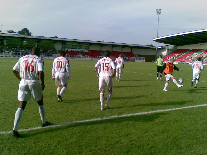 The players emerge for the second half