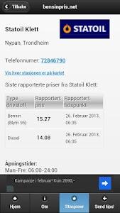 bensinpris.net screenshot 1