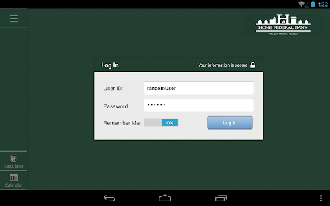 Home Federal Bank Tablet screenshot 2