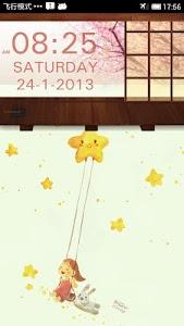 SakuraStyle Clock Widget screenshot 1