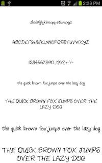 Neat Fonts for FlipFont free screenshot 06