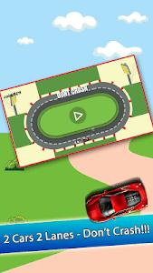 2 Cars 2 Lanes - Don't Crash! screenshot 0