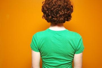 green tee shirt