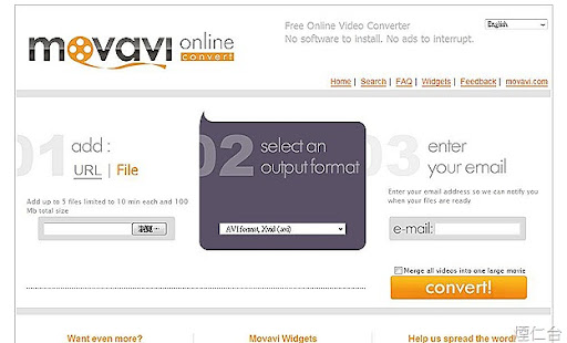 Movavi Online Video Converter