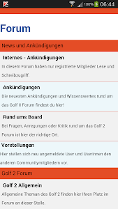 GOLF 2 FORUM screenshot 1