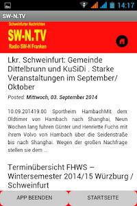 SW-N.TV - Schweinfurt/Franken screenshot 1