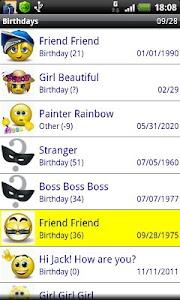 Birthdays screenshot 0