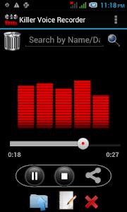Killer Voice Recorder Pro screenshot 1