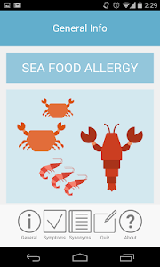 Seafood Allergy screenshot 0