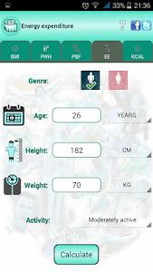 BMI Ideal weight and calories screenshot 7