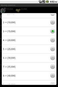 Money counter (beta) screenshot 1