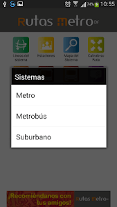 Rutas Metro y Metrobús DF screenshot 1