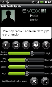 SVOX Spanish Pablo Trial screenshot 0