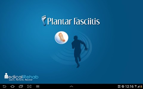 Plantar Fasciitis Tablet App screenshot 0