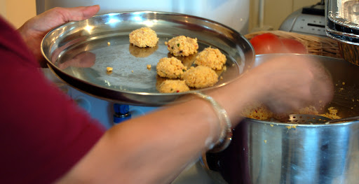 Mom making Vadas