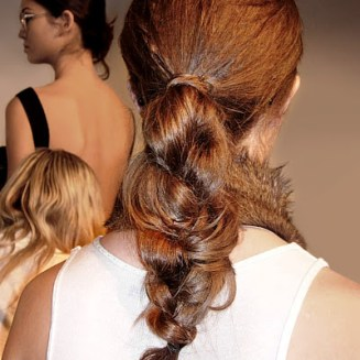 Hair styled by Oscar Blandi at New York Fashion Week