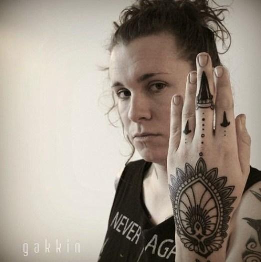 mandala tattoo design for hand on women