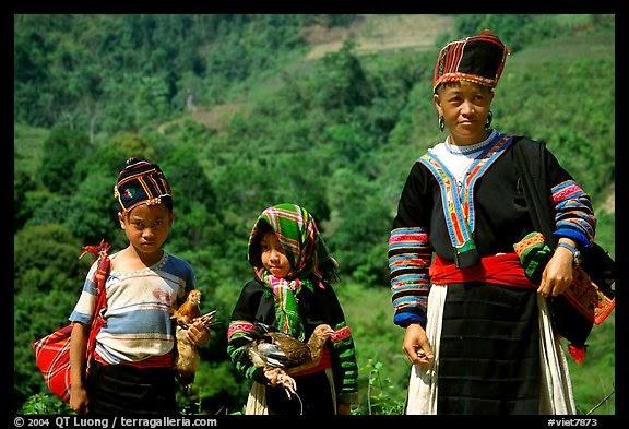 Hmong family near Lai Chau. Northwest Vietnam