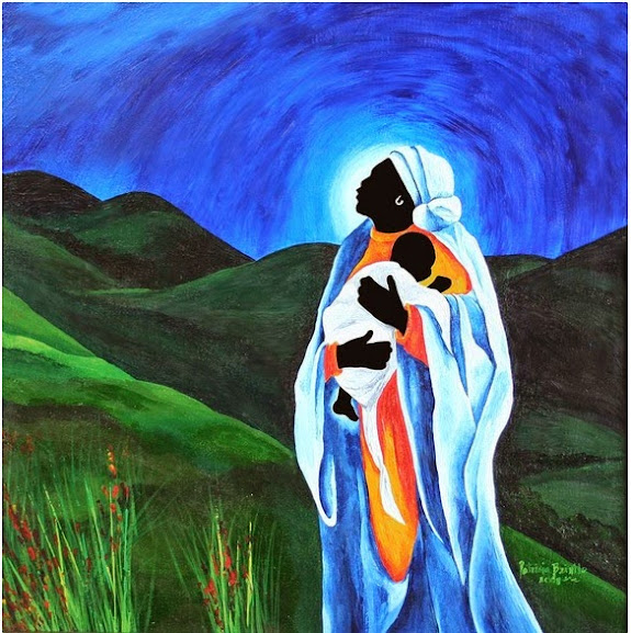 Madonna and Child - Patricia Brintle - Maternidade em obras de arte